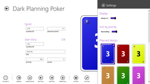 Settings: Playcard Design, Display and Priority Sorting